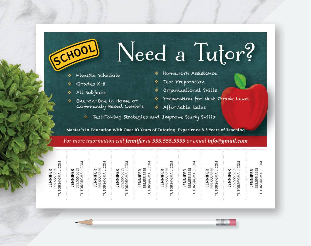 How to Design a Tutoring Flyer